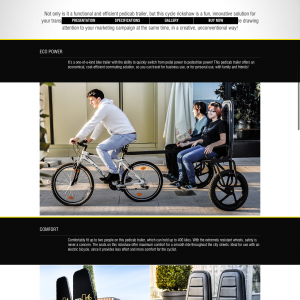 bizzonwheels pedicab trailer